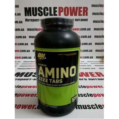Optimum Nutrition SUPERIOR AMINO 2222 TABS 320 таб