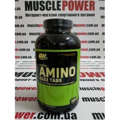 Optimum Nutrition SUPERIOR AMINO 2222 TABS 160 таб