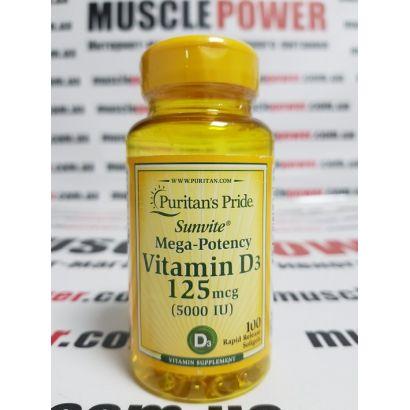 Puritan's Pride Vitamin D3 100 капс