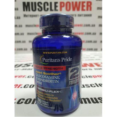 Puritan's Pride Triple Strength Glucosamine Chondroitin MSM 90 капс
