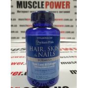 Puritan's Pride Hair Skin and Nails Type I and III collagen 120 таб