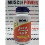 NOW Foods SUPER OMEGA 3-6-9 1200 MG  90 капс