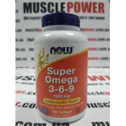 NOW Foods SUPER OMEGA 3-6-9 1200 MG 180 капс