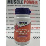 NOW Foods Vitamin D-3 5000 МЕ 120 капc